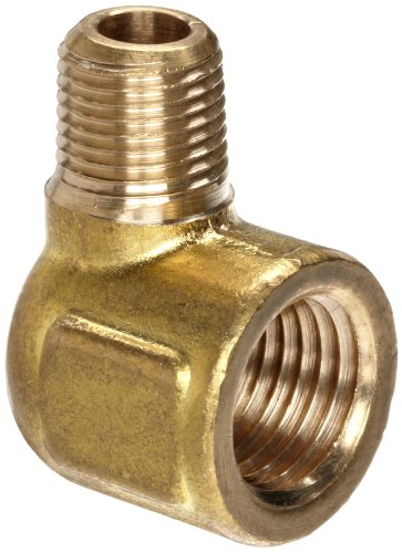 Elbow Brass Reducing (Anderson Metals Brass Pipe Fitting, Forged Reducing Street Elbow, 1/4