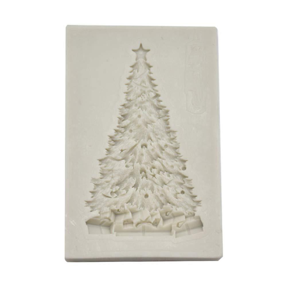 Alivier DIY Christmas Tree Silicone Mould Chocolate Sugarcraft Fondant Mold Cake Decorating Mold Bakeware Baking Tools