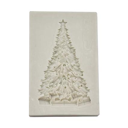 L-DiscountStore Bricolaje árbol de Navidad molde de silicona chocolate Sugarcraft fondant molde pastel decoración