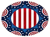 Amscan American Pride Lunch Plates Patriotic 4th of July Disposable Paper Round 9'' Pack 60 Party Supplies , 360 Pieces