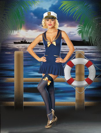 Sea Side Pin Up Adult Costume - Small]()