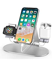$20 » 3 in 1 Aluminum Charging Station for Apple Watch Charger Stand Dock for iWatch Series 4/3/2/1,iPad,AirPods and iPhone Xs/X Max/XR/X/8/8Plus/7/7 Plus /6S /6S Plus/