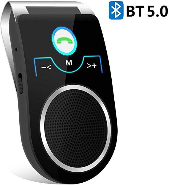 Amazon Com Bluetooth Handsfree Car Speaker Aigital Bluetooth 5 0 In Car Speakerphone Wireless Kit For Cell Phone Convenient To Have Hands Free Calls Gps Navigation And Music 2020 New Version