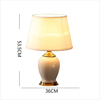 Amazon.com: AOLI Table Lamp American Deluxe Ceramic Table ...