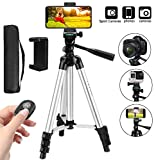 Tripod, Peyou 44'' Aluminum Camera Tripod with Phone Mount Holder and Bluetooth Remote