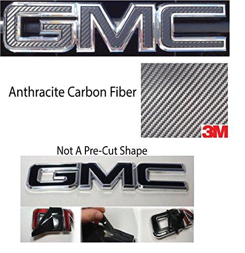 07-17 GMC Front/Rear Emblem Overlay Kit DIY, Sierra, Denali, Yukon, Acadia, Terrain, 3M Anthracite CARBON FIBER - EXTRA SHEET
