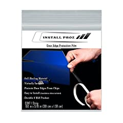 This Door Edge Protection Film is a very durable, self-healing, 8 millimeter thick clear coated urethane film that helps preserve your vehicle's finish. It helps protect against chips, abrasion and weathering--including stone chipping, door d...