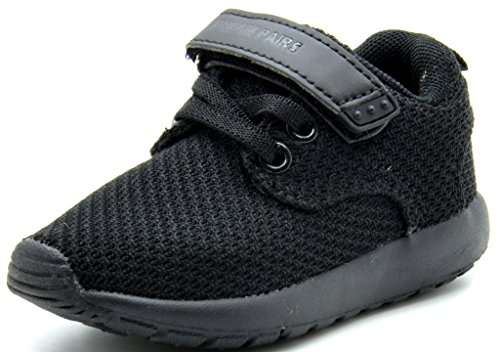 DREAM PAIRS Little Kid 5003-K Black Athletic Running Shoes Sneakers - 3 M US Little Kid
