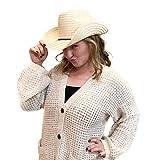 12 Piece Cowboy Hats - Adult Western Straw Hats