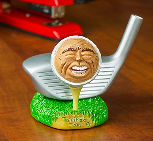 Hilarious Golf Expressions Collectible Character Figurines - Sculpted From Actual Golf Balls, Perfect for Fathers Day or Give as Prizes for Company Golf Tournaments and - Golf Collectible