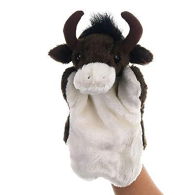 BUDIUK Marioneta Marioneta de Mano Juguetes de Peluche Animal Big Bull Story Juguete Muñecos Blandos for niños Juego de Juguete for niños: Hogar