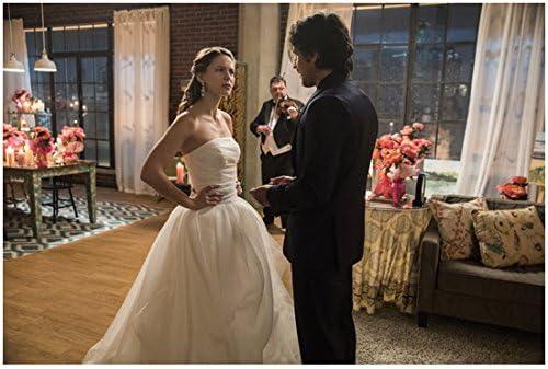 Supergirl Melissa Benoist as Kara in wedding dress looking