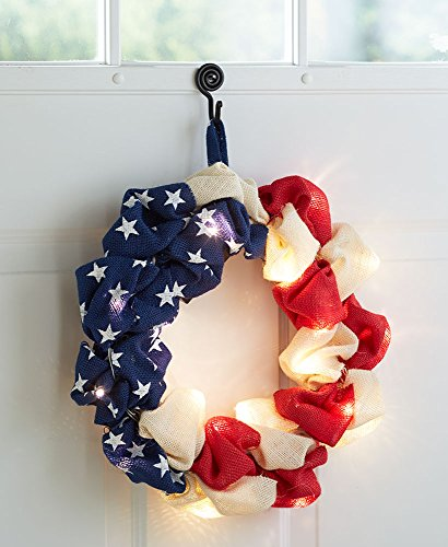The Lakeside Collection Lighted Patriotic Wreath