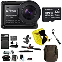 Nikon Keymisson 170 Wi-Fi 4K Action Camera with 32GB card and Bike Accessory Kit