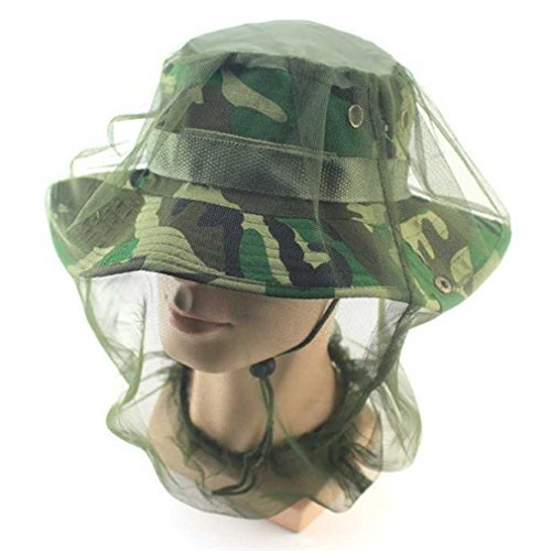 iUcar Mosquito Head Net Bug Net Mosquito Hat Mosquito Face Net for Travelling Backpacking Camping or Fishing