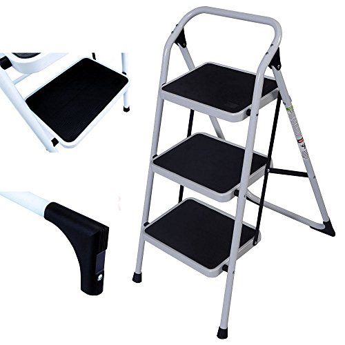 onestops8 Protable 3 Step Ladder Folding Non Slip Safety Tread Heavy Duty Industrial Home by onestops8 (Image #1)