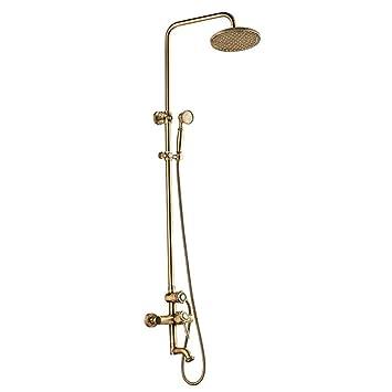 Europäische Retro Stil Dusche System Einstellbare Stange Dusche