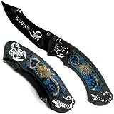 Whetstone Cutlery 25-016BL Cobalt Scorpion Hunter Pocket Knife Tactical Fold, Black/Cobalt