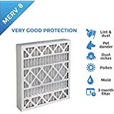 16x20x4 MERV 8 AC Furnace 4 Inch Air Filters - 6 PACK