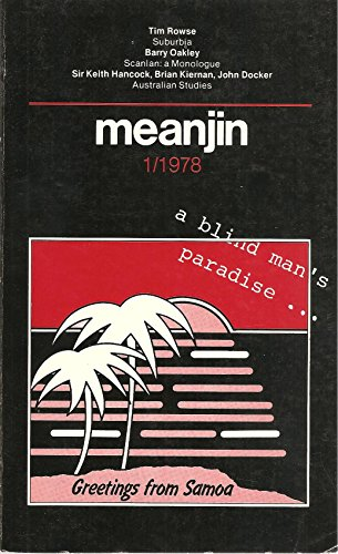 Meanjin, Number 1, 1978