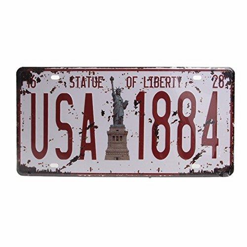 (Craft Art Vintage Decoration Retro Wall Decor 15.330.5Cm Metal License Plate)