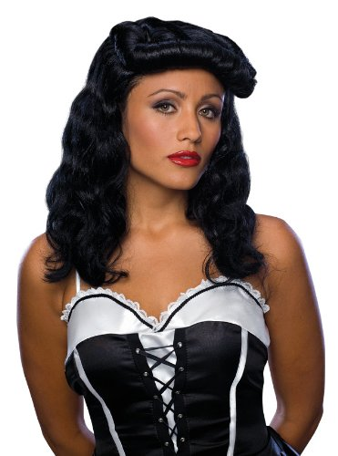 Rubie's Cigar Girl Curly Wig, Black, One Size