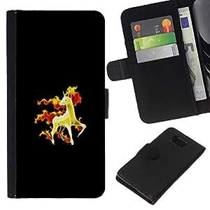 NEECELL GIFT forCITY // Billetera de cuero Caso Cubierta de protección Carcasa / Leather Wallet Case for Samsung ALPHA G850 // Rapidash P0kemon