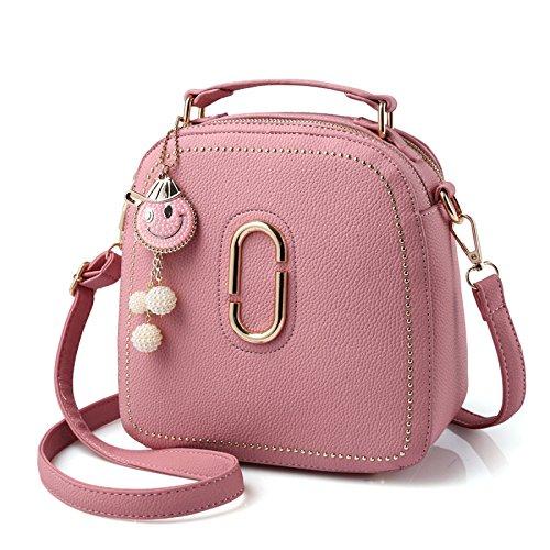 Bolso Hombro Mujer Bolso Metalizado Pink Para PU Moda Crossbody De HXq77pn