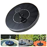 niceeshop Solar Fountain, Solar Powered Water Fountain Pumps Panel Kit Outdoor Submersible Pump for Pond, Pool, Patio, Aquarium, Fish Tank