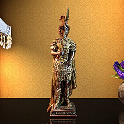 [Obey Your Taste] Caesar Roman Warrior Standing Decoration Figurine Collectible Home Decor Accents Collection Sculpture Statue Model Hand Painted Design Ornaments [Check Out Our SPECIAL OFFERS]