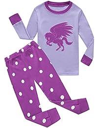 Girls Pajamas Cat Long Sleeve Pyjamas Toddler PJS 100% Cotton Kids Sleepwears