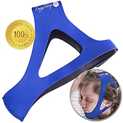 EasySleep Pro Blue Adjustable Stop Snoring Chin Strap