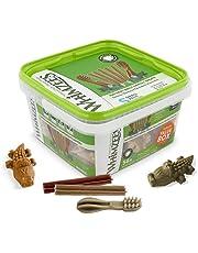WHIMZEES Gemengde veelzijdige doos, natuurlijke, graanvrije tandverzorgingssnacks, kauwstangen voor kleine honden, 56 stuks