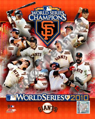 2010 World Series San Francisco Giants 8x10 Photograph Team Champions (Giants Photograph)
