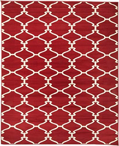 Cheap  Sweet Home Stores Clifton Collection Red Moroccan Trellis Design (7'10