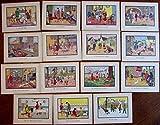 Juvenile Childrens Art Nouveau school prints lot x