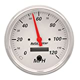Auto Meter 1389 Arctic White Electric Programmable Speedometer