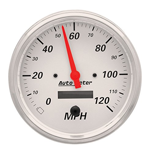 Auto Meter 1389 Arctic White Electric Programmable Speedometer by Auto Meter (Image #1)