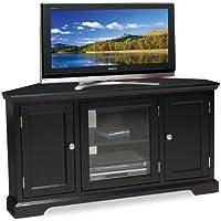 Leick Black Hardwood Corner TV Stand, 46-Inch