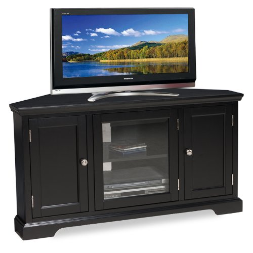 Leick Black Hardwood Corner TV Stand, 46-Inch by Leick Furniture