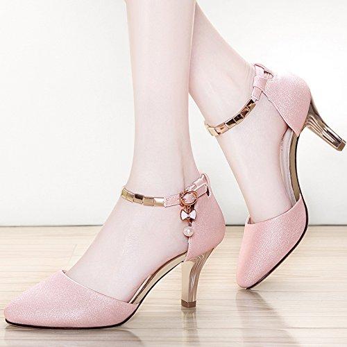 SHOESHAOGE Les Femmes Et Filles Chaussures Sandales À Talons Hauts Fine EU34/UK2-2.108 FEYWdm
