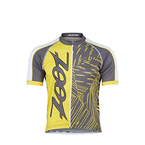 Radtrikot Ultra Cycle Team Jersey Herren pewter/sub atomic yellow