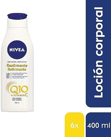 NIVEA Q10 Body Loción Reafirmante con Vitamina C en pack de 6 (6 x 400 ml), loción hidratante corporal para piel normal, coenzima Q10 para una piel elástica en 10 días