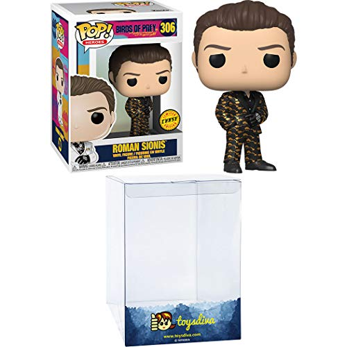Roman Sionis (Chase) Funk o Pop! Heroes Vinyl Figure Bundle with 1 Compatible ToysDiva Graphic Protector (306 - 44374 - B)