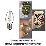 12-Pack, 15 Watt Wax Melt Warmer Light Bulbs for