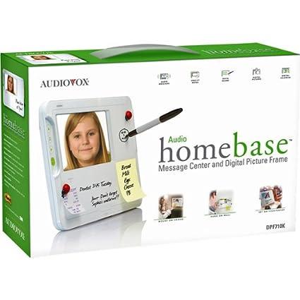 Amazon.com : Audiovox Electronics Homebase DPF710K Digital Message ...