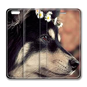 iPhone 6 Plus Case, Fashion Protective PU Leather Flip Case [Stand Feature] Cover Cute Dog 2 for New Apple iPhone 6(5.5 inch) Plus