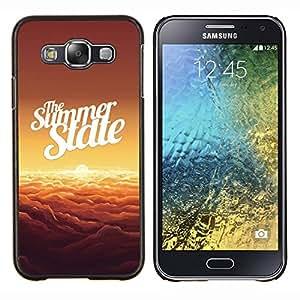 """Be-Star Único Patrón Plástico Duro Fundas Cover Cubre Hard Case Cover Para Samsung Galaxy E5 / SM-E500 ( Verano Nubes Estado Puesta del sol anaranjada"""" )"""