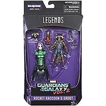 Marvel Guardians of the Galaxy Legends Series Rocket Raccoon & Groot, 6-inch