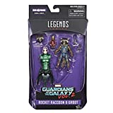 Marvel Guardians of the Galaxy Legends Series Rocket Raccoon and Baby Groot, 6-Inch
